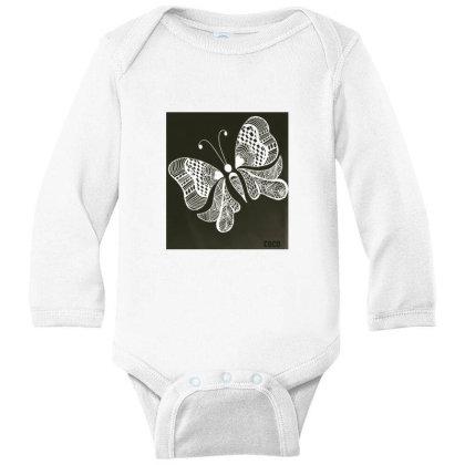 Buterrfly Long Sleeve Baby Bodysuit Designed By Sinchana Ko