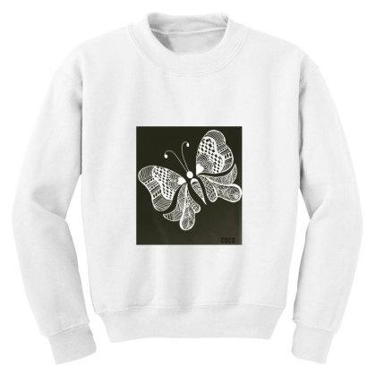 Buterrfly Youth Sweatshirt Designed By Sinchana Ko