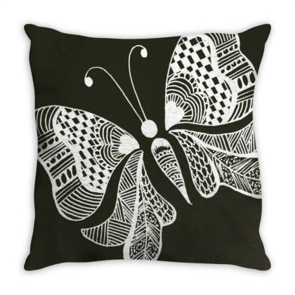 Buterrfly Throw Pillow Designed By Sinchana Ko