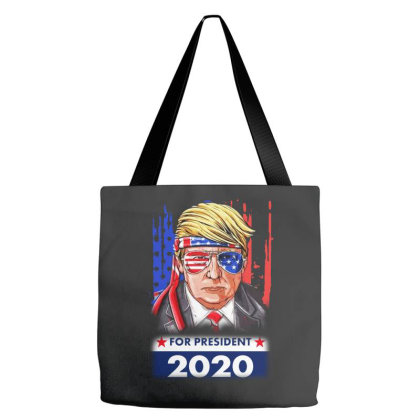 Trump President 2020 Tote Bags Designed By Raymod Art