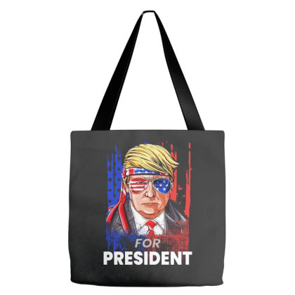 Trump For President   Funny 4th Of July Art Tote Bags Designed By Raymod Art