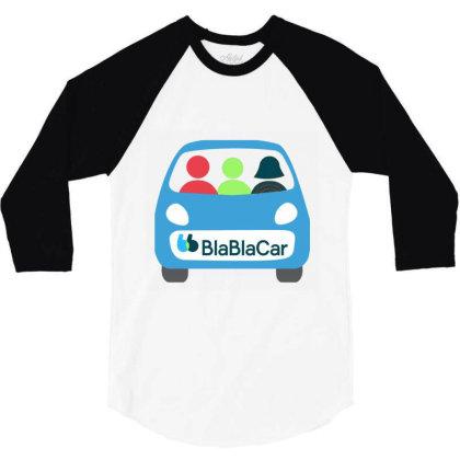 Blablacar Traveler Free 3/4 Sleeve Shirt Designed By Zeronos890909