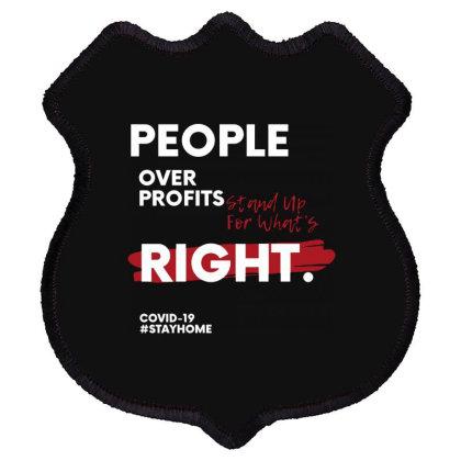 People Over Profits Shield Patch Designed By Raymod Art
