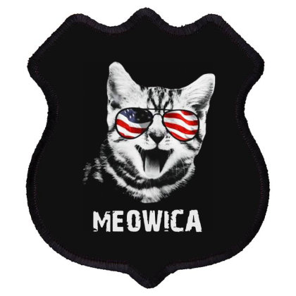 Meowica 4th Of July Independence Day American Shield Patch Designed By Raymod Art