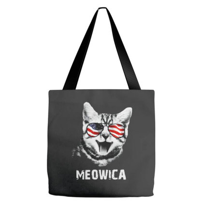 Meowica 4th Of July Independence Day American Tote Bags Designed By Raymod Art