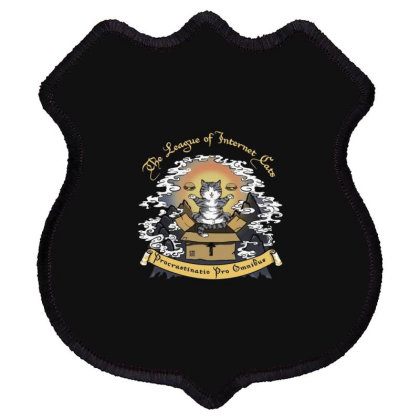 The League Of Internet Cats Shield Patch Designed By Feniavey
