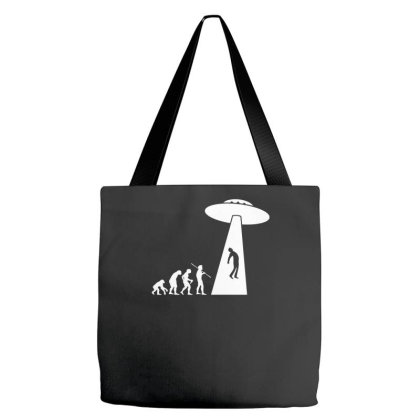 Evolution Ufo Funny Tote Bags Designed By Erishirt