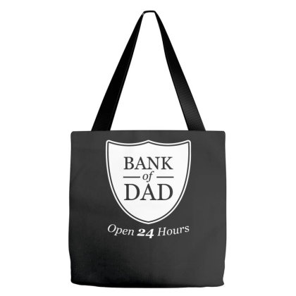Bank Of Dad Funny Tote Bags Designed By Erishirt
