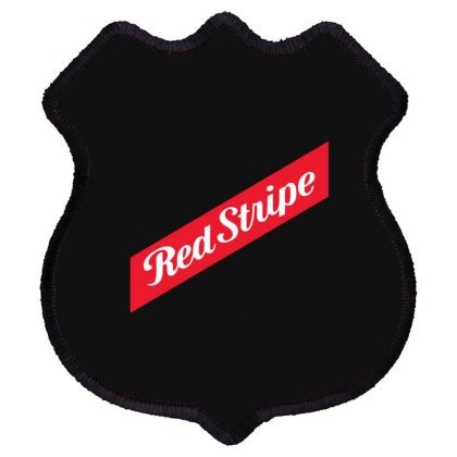 Red Stripe Shield Patch Designed By Pinkanzee
