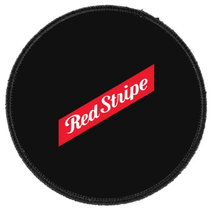 Red Stripe Round Patch Designed By Pinkanzee