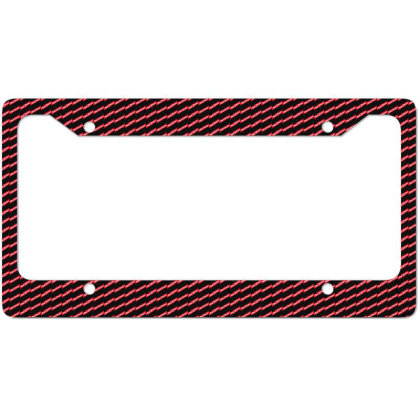 Red Stripe License Plate Frame Designed By Pinkanzee