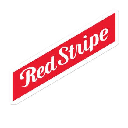 Red Stripe Sticker Designed By Pinkanzee