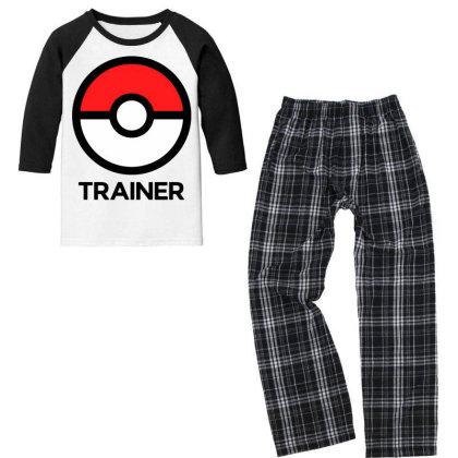Trainer Youth 3/4 Sleeve Pajama Set Designed By Pinkanzee