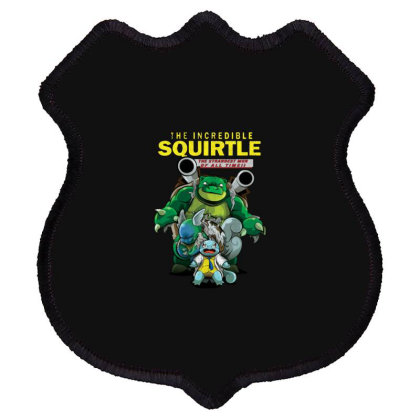 The Incredible Squirtle Shield Patch Designed By Feniavey