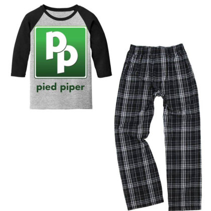 Pied Piper Youth 3/4 Sleeve Pajama Set Designed By Pinkanzee