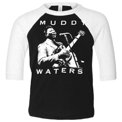 Muddy Waters Toddler 3/4 Sleeve Tee Designed By Pinkanzee