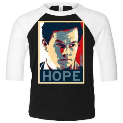 Hope Poster Toddler 3/4 Sleeve Tee Designed By Pinkanzee