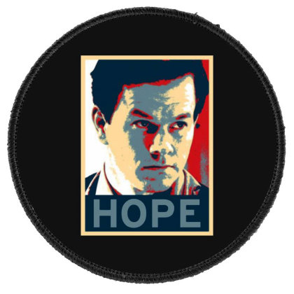 Hope Poster Round Patch Designed By Pinkanzee
