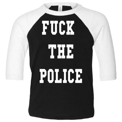 The Police Toddler 3/4 Sleeve Tee Designed By Pinkanzee