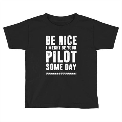 Funny Airline Pilot Flight School Toddler T-shirt Designed By Dropshop