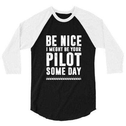 Funny Airline Pilot Flight School 3/4 Sleeve Shirt Designed By Dropshop