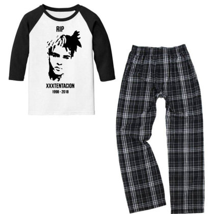 He Will Forever Be In Our Memories... Youth 3/4 Sleeve Pajama Set Designed By Pinkanzee