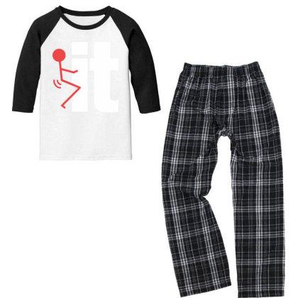 It Youth 3/4 Sleeve Pajama Set Designed By Pinkanzee