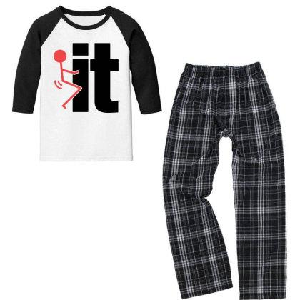It Funny Youth 3/4 Sleeve Pajama Set Designed By Pinkanzee