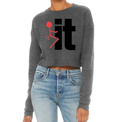It Funny Cropped Sweater Designed By Pinkanzee