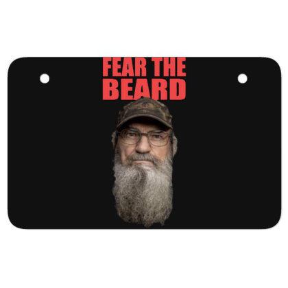 Fear The Beard Atv License Plate Designed By Pinkanzee