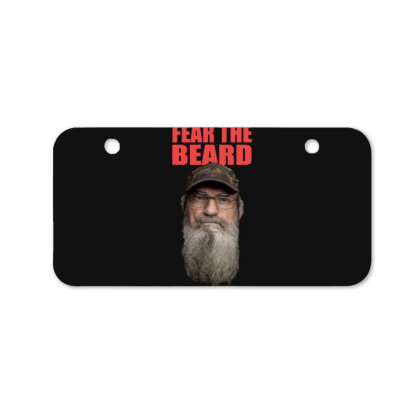Fear The Beard Bicycle License Plate Designed By Pinkanzee