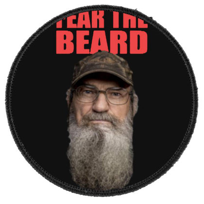 Fear The Beard Round Patch Designed By Pinkanzee
