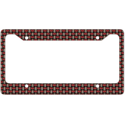 Fear The Beard License Plate Frame Designed By Pinkanzee