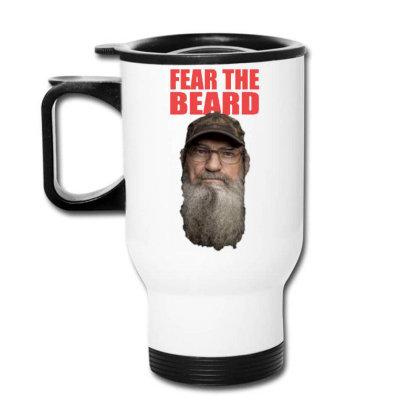 Fear The Beard Travel Mug Designed By Pinkanzee