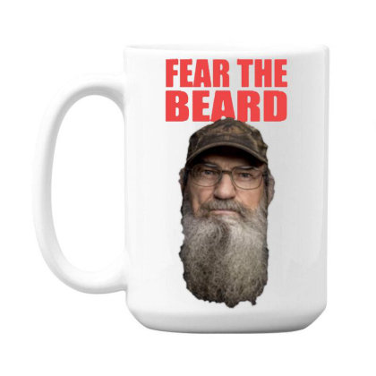 Fear The Beard 15 Oz Coffe Mug Designed By Pinkanzee