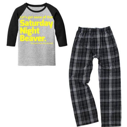 Boogie Nights Saturday Night Beaver Youth 3/4 Sleeve Pajama Set Designed By Pinkanzee