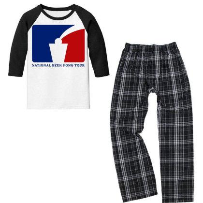 Pong Tour Youth 3/4 Sleeve Pajama Set Designed By Pinkanzee