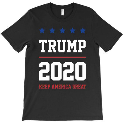 Trump 2020 Keep America Great - Usa Flag Gift Political T-shirt Designed By Diogo Calheiros