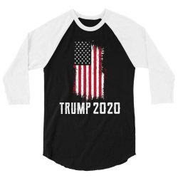 Donald Trump President - USA Flag Gift Political 3/4 Sleeve Shirt   Artistshot