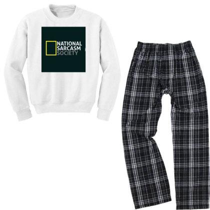 National Sarcasm Society Youth Sweatshirt Pajama Set Designed By Creative_buddy