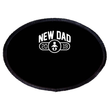 New Dad Oval Patch Designed By Erishirt