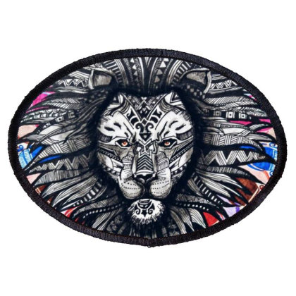 Lion Oval Patch Designed By Aanki_arts_