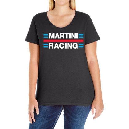 Martini Racing Ladies Curvy T-shirt Designed By Ampun Dj
