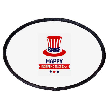 Independence Day, Usa Day Oval Patch Designed By Tshirtartindia