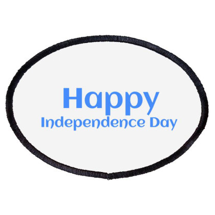 Happy Independence Day Oval Patch Designed By Mdarsalan