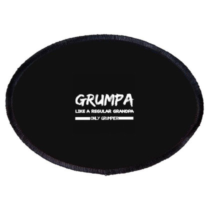 Grumpa Oval Patch Designed By Bettercallsaul