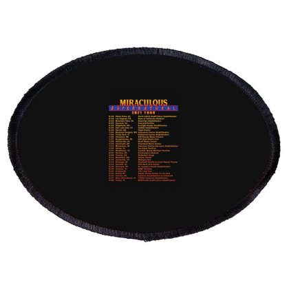 Sticker Miraculous Supernatural Tour Dates 2021 Oval Patch Designed By Rainasuryatmi