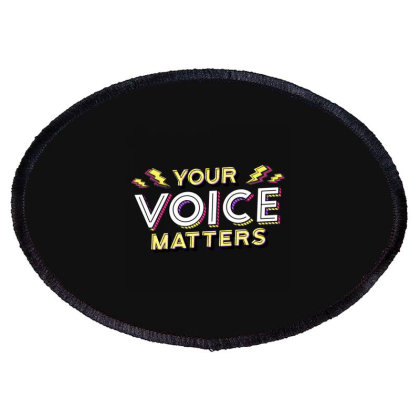 Black Lives Matter Oval Patch Designed By Bakari10