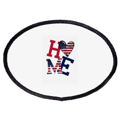 American Flag Home Oval Patch Designed By Bettercallsaul