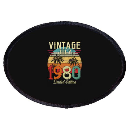 Vintgae July 1980 Limited Edition Oval Patch Designed By Badaudesign